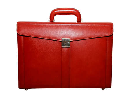 red briefcase over white