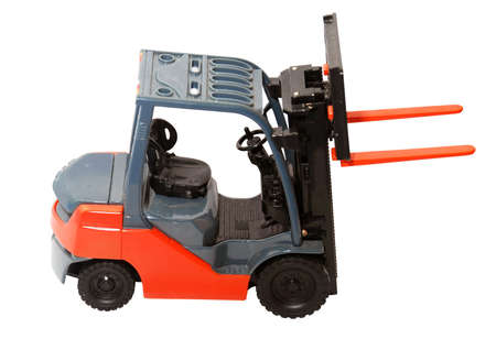 forklift toy on the white background
