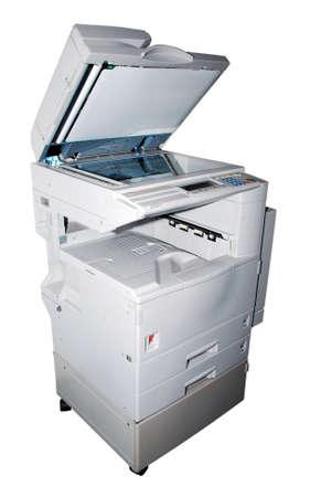 office machine: photocopy machine on the white background Stock Photo