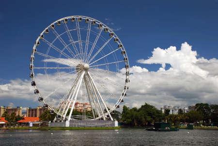 eyes on malaysia-ferris wheel Stock Photo - 2658352