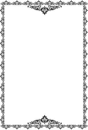 borders over white Stock Photo - 3530408