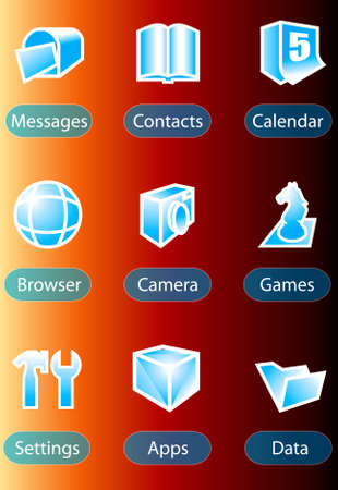 priority: handphone icon vector