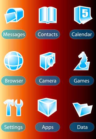 handphone icon vector photo