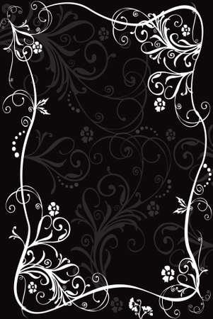 bordure floral: floral border Banque d'images