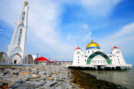 god box: mosque on the blue sky background #