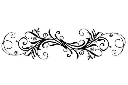 Un design floreale di bordo su sfondo bianco Archivio Fotografico - 5678614