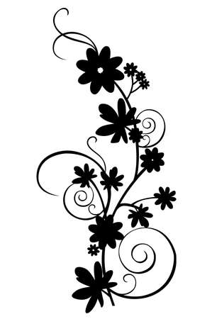 a floral border design on the white background