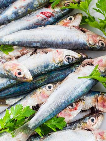Fresh sardines with lemon and parsley