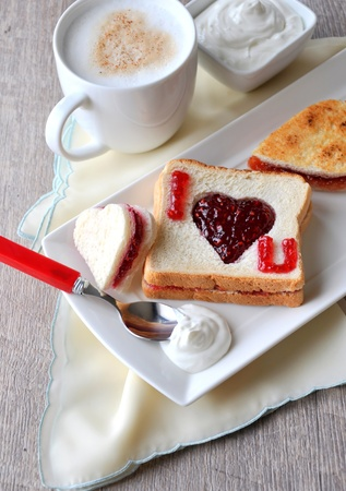 valentine day cup of coffee:  I love you  breakfast - vertical