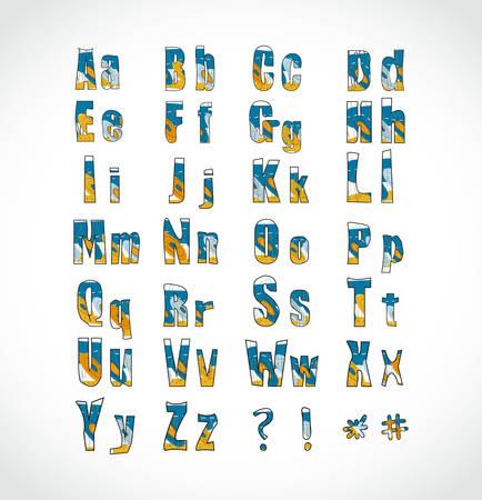 ABC. Funny alphabet. Vector. Illustration