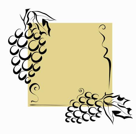 Grapes decoration, vector illustration.