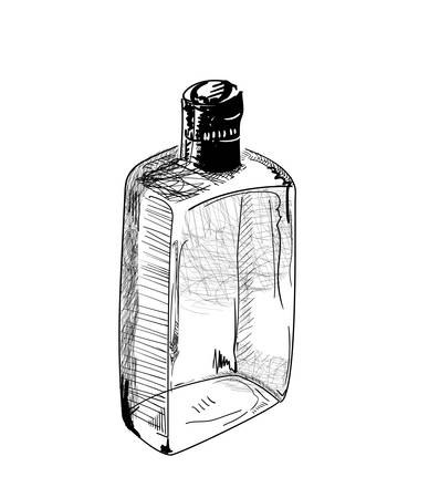 Hand-drawn alcohol bottle