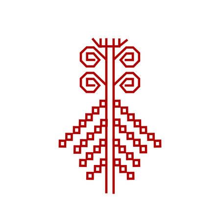 Red element of design finnish ornament
