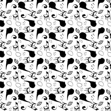 surrealism stylized seamless pattern
