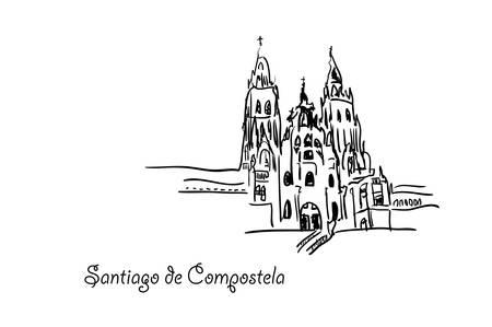サンティアゴ ・ デ ・ コンポステーラ。