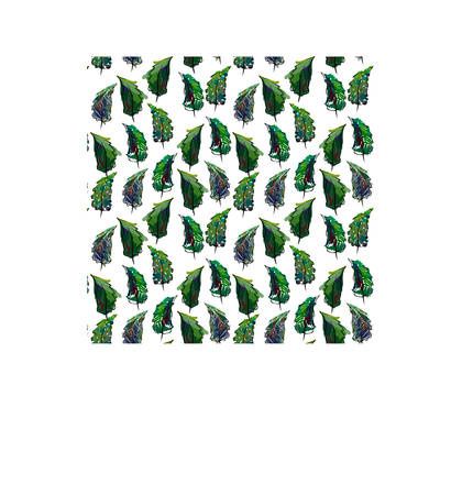 Seamless christmas tree pattern in flat style. Vector. Illustration