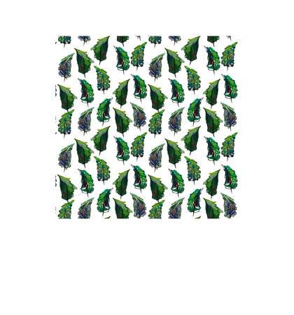 Seamless christmas tree pattern in flat style. Vector. Çizim