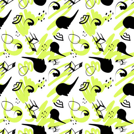 surrealism stylized seamless pattern colorcast on a white. Vector Illustration