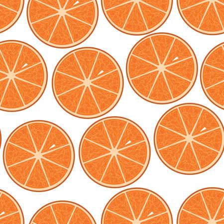 Oranges seamless pattern. Vector illustration. Banque d'images
