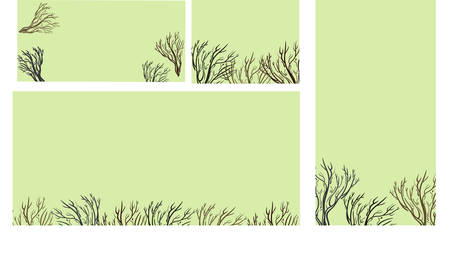 Greeting cards with lacy tree Illustration