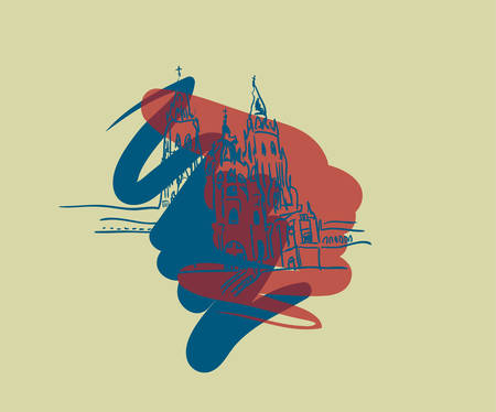 Santiago de Compostela illustration.