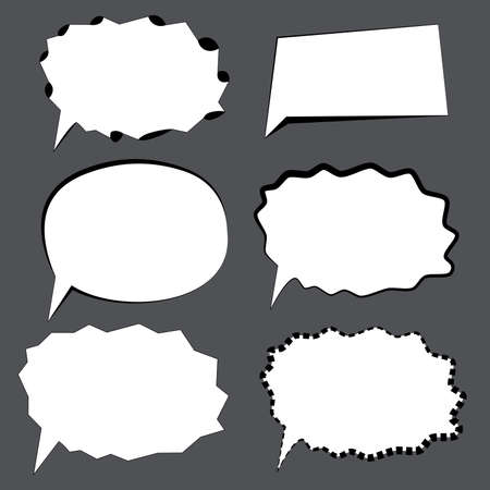Callout Shapes Speech Bubbles stylized vector.
