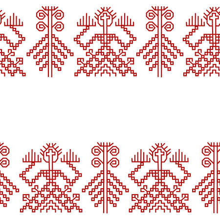 Seamless pattern with element of finnish ornament