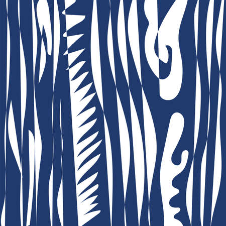 Abstract wave shapes pattern background. Blue and white