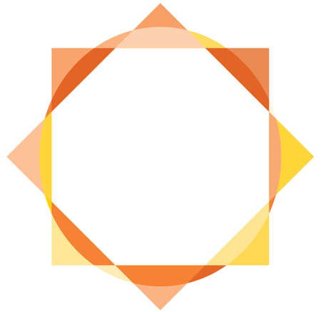 Sun frame with the colorful geometric shapes Illustration
