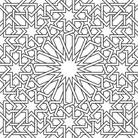 Marokkaanse Patroon, het? Sa vector, gebruikt in de architectonische vormgeving, voor achtergronden, textiel, textuur voor 3D-objecten en meer ... Stock Illustratie