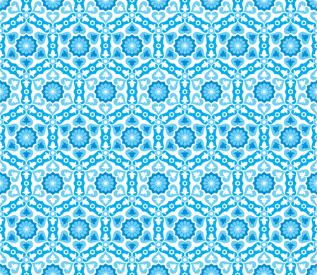 This moroccan pattern is used in architectural design. Illustration