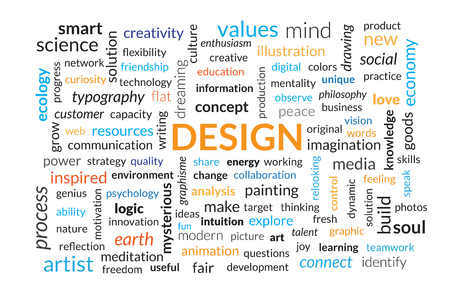 Wordle contains words related to design and communication.