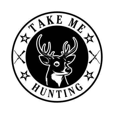 Illustration of a deer for hunting.