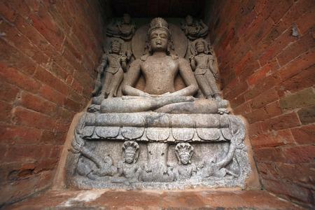Standbeeld van Boedha in erfenis Boedha uitgegraven plaats, Ratnagiri, Orissa, India Stockfoto