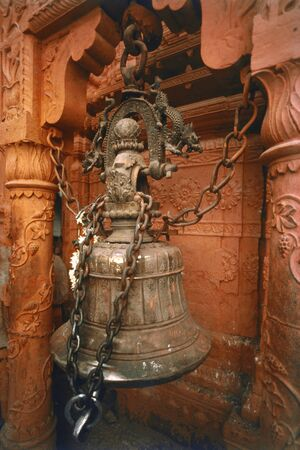 Kashi Vishwanath temple bell at Varanasi,Varanasi,Uttar Pradesh,India Stock Photo