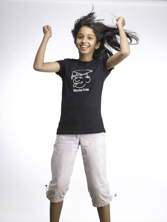 South Asian Indian girl in exciting mood