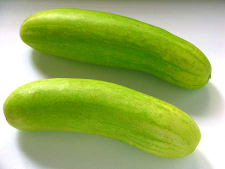 perishable: Two Cucumber green vegetable,India