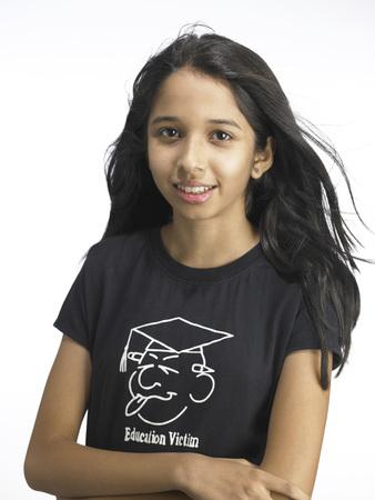 South Asian Indian young girl looking at camera