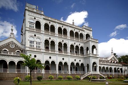 Heritage monument Aga Khan palace,Pune,Maharashtra,India Stock Photo