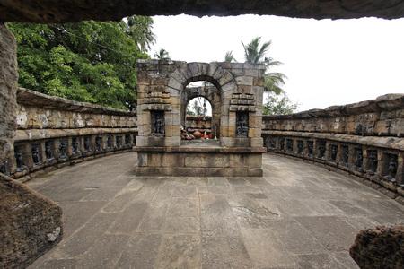 Architecture,chousath (sixty four) yoginis temple,Bhubaneswar,Orissa,India