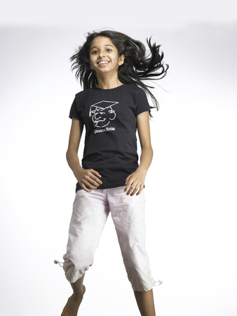 South Asian Indian young girl in exciting mood