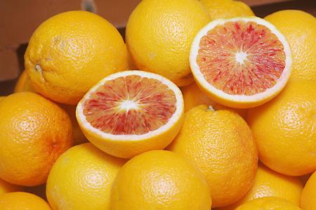 Nature,Fruit,Blood Orange Citrus Sinensis,Rutaceae Stock Photo
