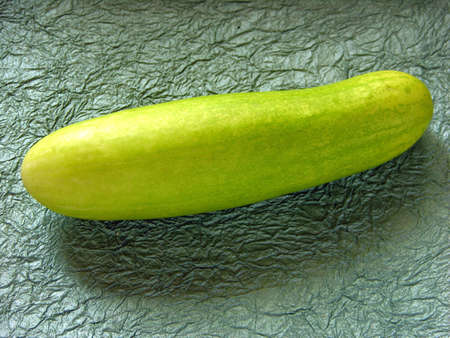 Single Cucumber green vegetable,India