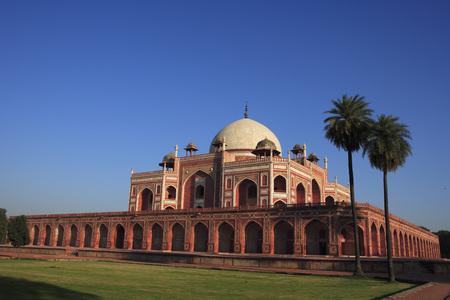 Humayuns tomb built in 1570,Delhi,India UNESCO World Heritage Site Stock Photo