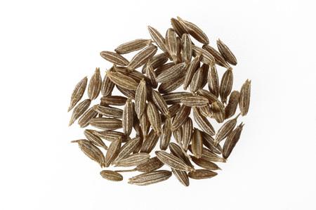 Spices,Cumin Cuminum cyminum on white background