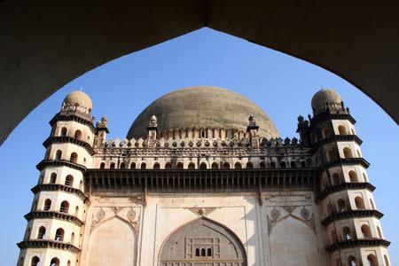 Gol Gumbaz through arch,Bijapur,Karnataka,India