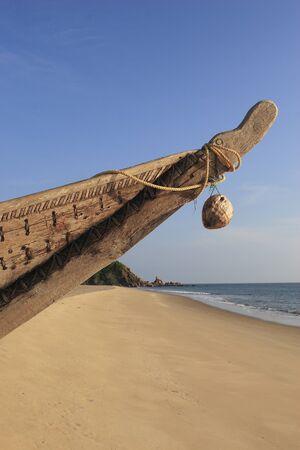 Fishing Boat at beach,Village Bhogwe,Konkan,District Sindhudurga,Maharashtra,India