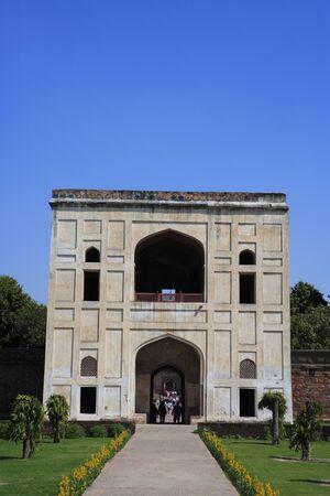 Bu Halima gate led to the tomb-garden of Bu Halima in Humayuns tomb complex,Delhi,India UNESCO World Heritage Site Stock Photo