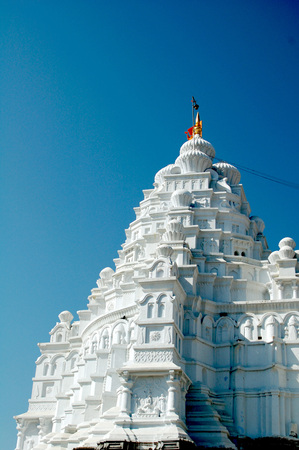 White Dome of  Aundhanagnath one of twelve Jyotirling Shiva temples Shivling at Aundha near Nanded,Maharashtra,India