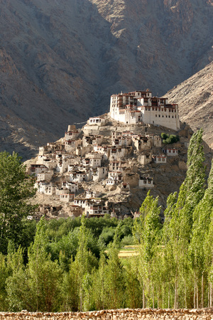Chemre Gompa Buddhist Monastery on Mountain Southeast of Leh Founded in 1664 memorial of king Sengge Namgyal,Ladakh,Jammu & Kashmir,India,Asia Stock Photo